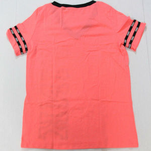 PINK Victoria's Secret Tops - VS PINK Perfect V-Neck Lightweight Logo Tee Coral